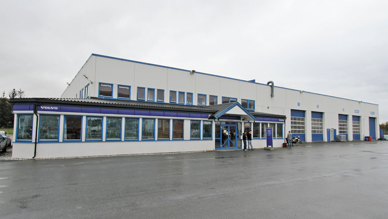 Nordic Last og Buss, avd. Tromsø. Foto.