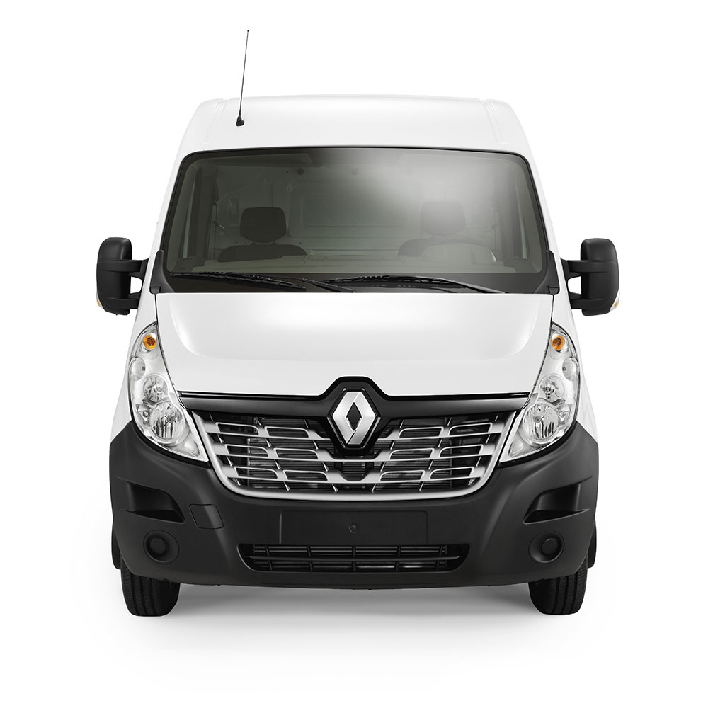 Renault Master (fås som varebil, kassebil, buss m.m.). Foto.