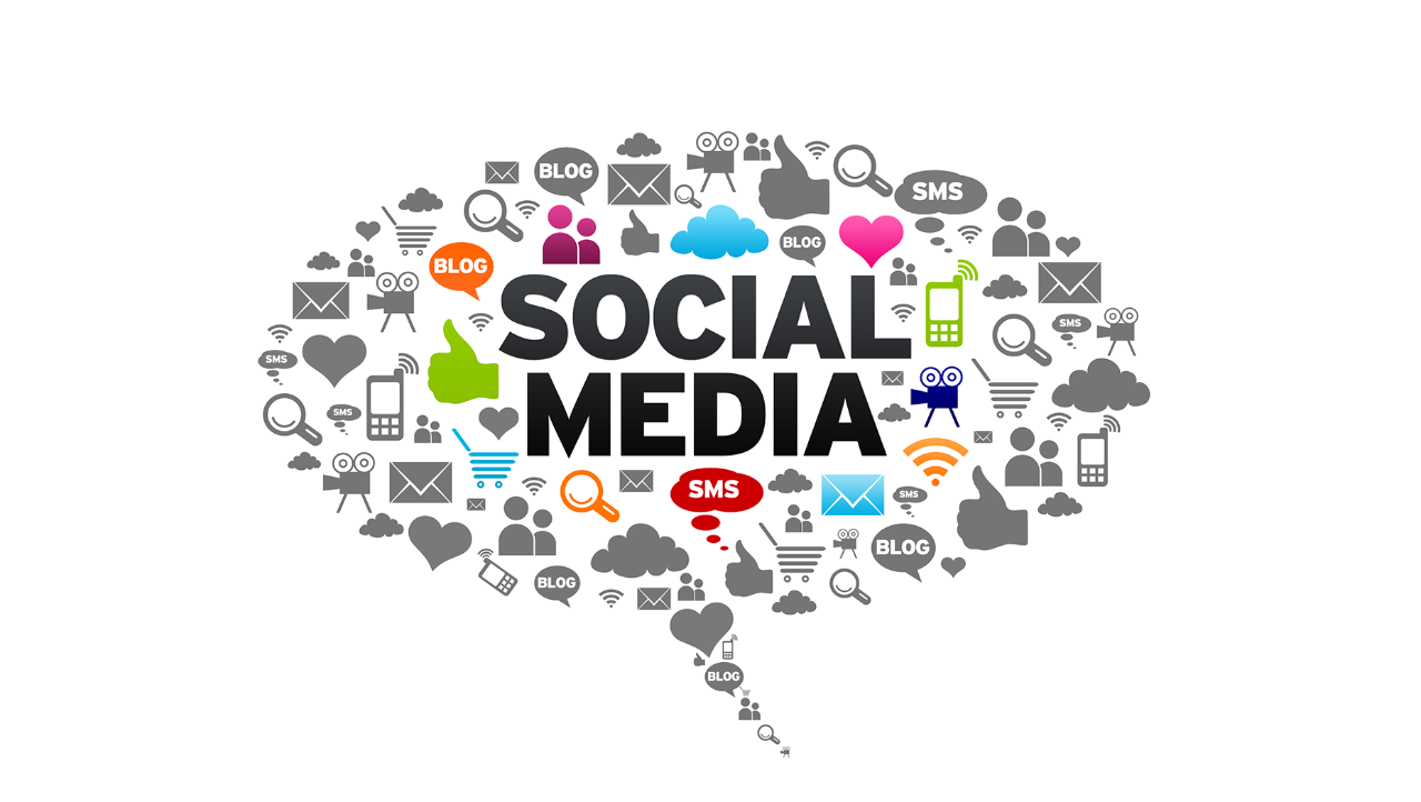 Oversikt over sosiale medier. Foto.